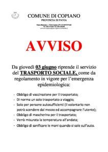 AVVISO TRASPORTI SOCIALI