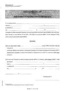 Dichiarazione di deposito e nomina fiduciario