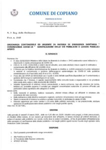 ORDINANZA N. 3 DEL 12.03.2020